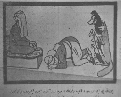 Cumhuriyet Gazetesinde dönemin karikatürleri