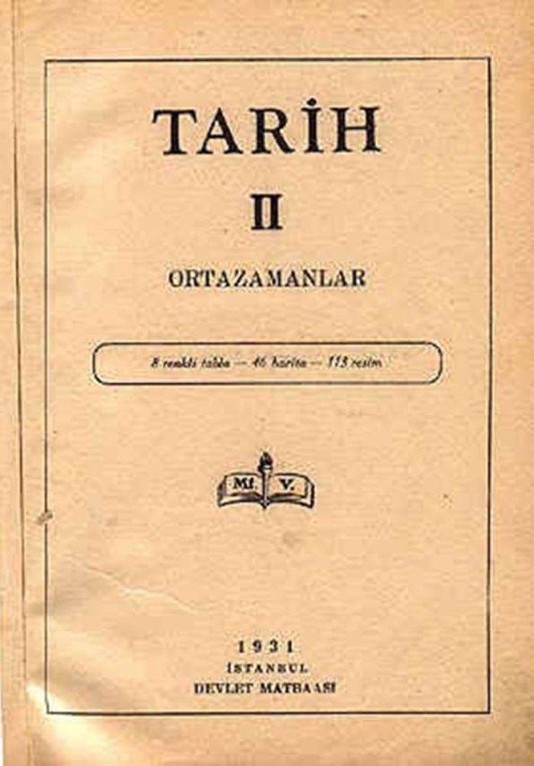 Mustafa Kemal devrinde okutulan Lise Tarih kitabı